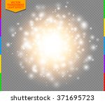 abstract golden explosion with... | Shutterstock .eps vector #371695723