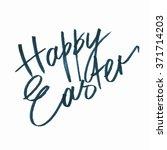 happy easter hand lettering ... | Shutterstock . vector #371714203