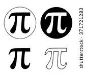 pi greek letter icon set  pi... | Shutterstock .eps vector #371721283