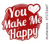 you make me happy grunge rubber ... | Shutterstock .eps vector #371721667