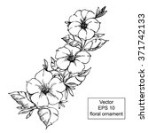 black and white floral ornament ... | Shutterstock .eps vector #371742133