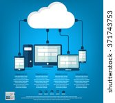 cloud computing   devices... | Shutterstock .eps vector #371743753