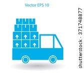 flat truck icon. vector | Shutterstock .eps vector #371748877
