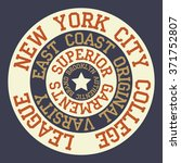 new york brooklyn typography  t ... | Shutterstock .eps vector #371752807