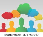 colorful bubbles over people... | Shutterstock .eps vector #371753947