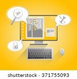 computer bug. computer created... | Shutterstock .eps vector #371755093