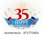 anniversary celebration... | Shutterstock . vector #371772403