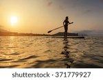 silhouette of a beautiful woman ... | Shutterstock . vector #371779927