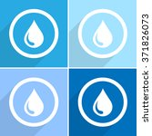 water drops icon set vector... | Shutterstock .eps vector #371826073