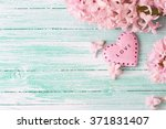 background  with fresh flowers... | Shutterstock . vector #371831407