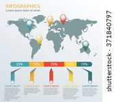 world map infographic template. ...   Shutterstock .eps vector #371840797