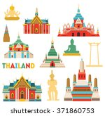 thailand detailed monuments.... | Shutterstock .eps vector #371860753