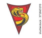 snake emblem triangle   Shutterstock .eps vector #371865193