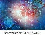 abstract molecules.  science... | Shutterstock . vector #371876383