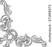 vintage fine real corner is... | Shutterstock . vector #371898373