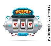futuristic slot machine... | Shutterstock .eps vector #371904553