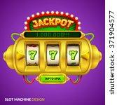 Gold  Slot Machine Illustration