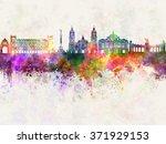 mexico city skyline in...   Shutterstock . vector #371929153