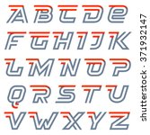 fast speed alphabet. two lines... | Shutterstock .eps vector #371932147