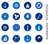 set of sea icons on color... | Shutterstock .eps vector #371935153