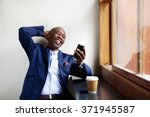 portrait of smiling businessman ... | Shutterstock . vector #371945587