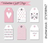set of valentine's day cards... | Shutterstock .eps vector #371958967