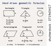 hand drawn geometric formulas | Shutterstock .eps vector #371965417