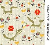background martens  butterflies ... | Shutterstock .eps vector #371969593