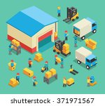 isometric warehousing | Shutterstock . vector #371971567