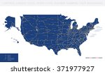high detailed usa road map... | Shutterstock .eps vector #371977927