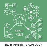 smart home infographic concept... | Shutterstock .eps vector #371980927