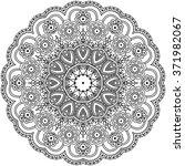 mandala coloring illustration.... | Shutterstock .eps vector #371982067