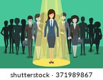 businesswoman in spotlight | Shutterstock . vector #371989867