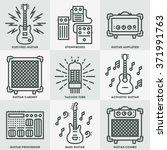 assorted guitar stuff. line... | Shutterstock .eps vector #371991763