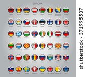 set of round glossy flags of... | Shutterstock .eps vector #371995537