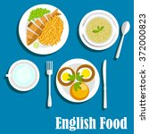 english cuisine main dishes... | Shutterstock .eps vector #372000823
