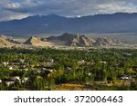 city view of leh  india | Shutterstock . vector #372006463