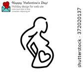 web line icon. pregnant woman | Shutterstock .eps vector #372020137