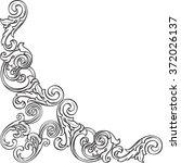 baroque nice art corner is... | Shutterstock . vector #372026137