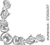 ornate victorian corner... | Shutterstock . vector #372026257