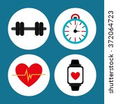 gym and fitness lifestyle   Shutterstock .eps vector #372064723