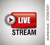 tv live stream | Shutterstock .eps vector #372067657