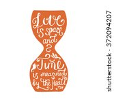 love is space and time is...   Shutterstock .eps vector #372094207