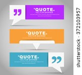 set of banners with a quote... | Shutterstock .eps vector #372103957