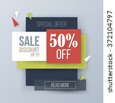 sale discount creative banner... | Shutterstock .eps vector #372104797