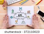 kpi key performance indicator... | Shutterstock . vector #372110023