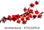 a branch of a blossoming tree.... | Shutterstock . vector #372132913