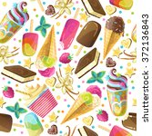 vector seamless pattern with... | Shutterstock .eps vector #372136843