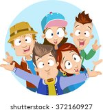 vector cartoon illustration of... | Shutterstock .eps vector #372160927