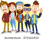 vector cartoon illustration of... | Shutterstock .eps vector #372161923